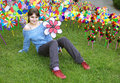 Free Colorful Wind Wheels For Kids Royalty Free Stock Photos - 5331328