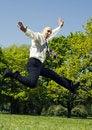 Free Jump. Royalty Free Stock Photos - 5337038