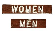 Grungy Signs - Women And Men Stock Images