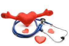 Free Heart And A Stethoscope Stock Image - 5330981