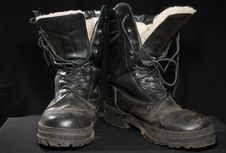 Free Black Boots Royalty Free Stock Images - 5331889