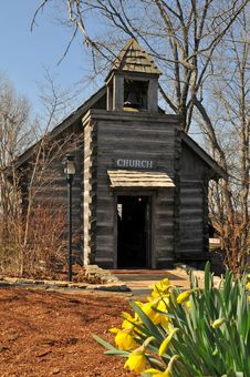 Olr Rural Church Royalty Free Stock Images