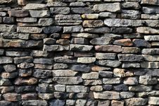 Free Stone Wall With Different Stones Royalty Free Stock Photos - 5332118
