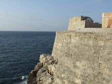 Free Fortress Wall And A Blue Sea Stock Images - 5332464