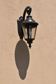 Free Wall Lantern With Shadow Stock Photo - 5332560