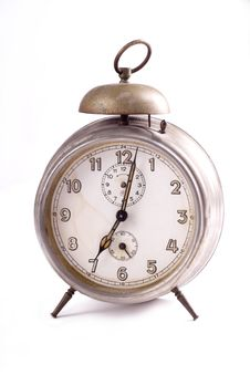 Free Old Clock On The White Background Stock Image - 5333021