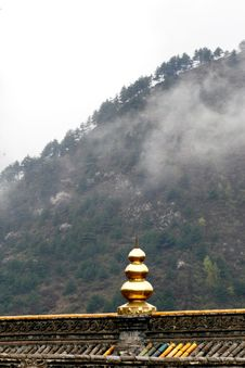 Clouds And Fog In The Temple Stock Photography