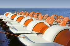Free Colorful Catamarans On Leash Royalty Free Stock Photography - 5334497