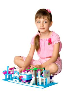 Free The Girl With Meccano 2 Stock Photography - 5334612