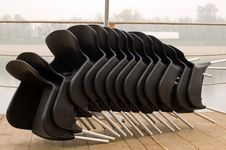 Free Stacked Chairs Royalty Free Stock Photos - 5334918