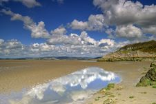 Low Tide At Silverdale Stock Image