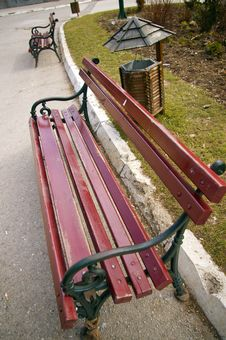 Free Bench In Park Stock Photography - 5335112