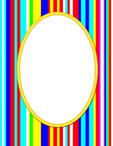Free Yellow Oval Frame Royalty Free Stock Image - 5335556