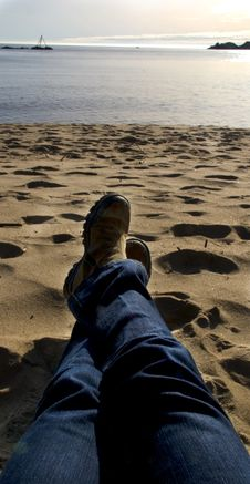 Free Relaxing On Beach In Norway Stock Photography - 5336302