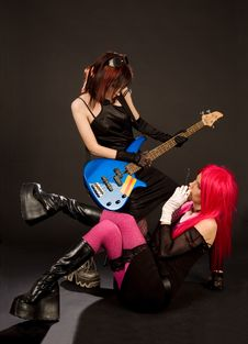 Free Two Rock Girls Looking At Each Other Royalty Free Stock Photo - 5336575