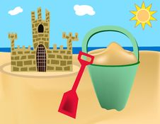 Free Summer Sand Castle Stock Photo - 5336870