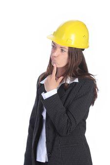 Free Businesswoman Thinking Stock Image - 5337271