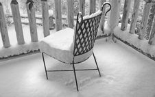 Free Snow On Deck Chair Stock Images - 5337894