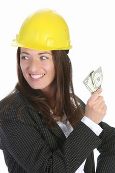 Free Businesswoman With Earnings Royalty Free Stock Images - 5338529