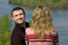 Free Guy And Girl Outdoor Stock Photography - 5338622