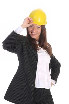 Free Young Businesswoman With Helmet Royalty Free Stock Image - 5338786