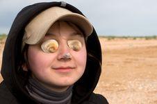 Blind Beautiful Women Royalty Free Stock Photos