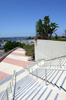 Free Stairs At San Diego Conference Center Royalty Free Stock Photography - 5339137