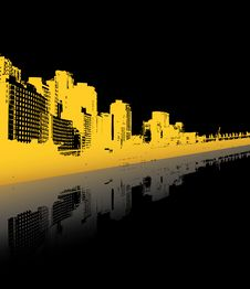 Free City Reflected In The Water. Royalty Free Stock Images - 5339629