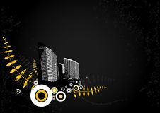 Illustration With City. Vector Stock Photo