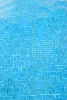 Free Blue Pool Bottom Royalty Free Stock Photography - 5339647