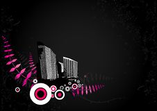 Illustration With City. Vector Stock Images