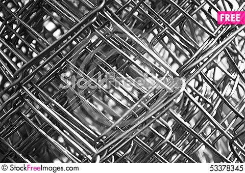 Free Metal Mesh Wire Closeup Royalty Free Stock Photo - 53378345