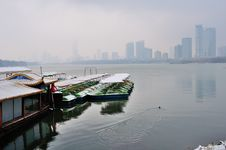 Free Xuanwu Lake Park Snow Scene Royalty Free Stock Image - 53387676