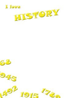 Free I Love History Yellow Royalty Free Stock Photography - 5340007