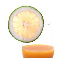 Free Orange Juice With Grapefruit Slice Royalty Free Stock Images - 5340129