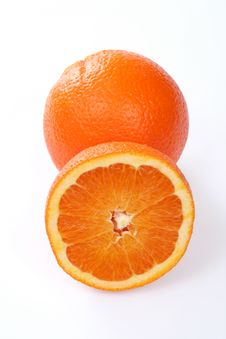 Free One And Half Orange Stock Photo - 5340160
