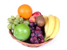 Free Basket Of Fruits Stock Images - 5340174