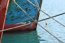 Free Peeling Paint On Harbour Boats Stock Photos - 5340423