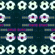 Abstract Made From Soccer Ball. Stock Photo
