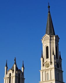 Free Two Steeples Royalty Free Stock Image - 5341496