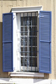 Free Blue Shutters Stock Images - 5341544