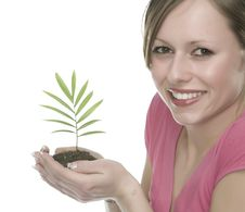 Free A Woman With Plant Royalty Free Stock Photo - 5341995