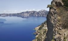 Free Crater Lake And Mount Scott Royalty Free Stock Photo - 5342015