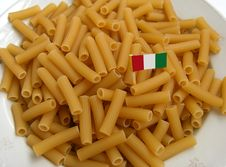 Italian Pasta With Flag Stock Images