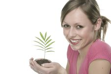 Free A Woman With Plant Stock Images - 5342764