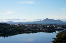 Free Small Town On A Fiord Coast At Lofoten Island Royalty Free Stock Photography - 5343117