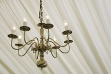 Free Chandelier Under Silk Royalty Free Stock Photo - 5343465