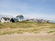 Free Houses On The Beach Royalty Free Stock Photo - 5344095