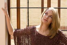Windowsill Girl Royalty Free Stock Image