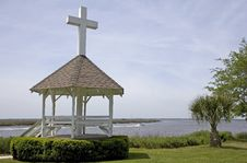 Free Church Gazebo On Shore Stock Photography - 5344352